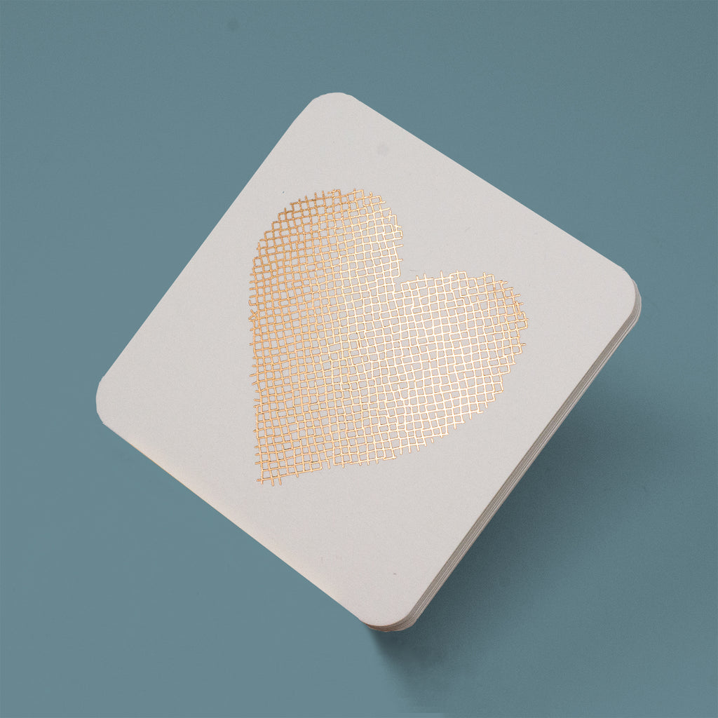 Heart Coasters - Rose Gold Foil