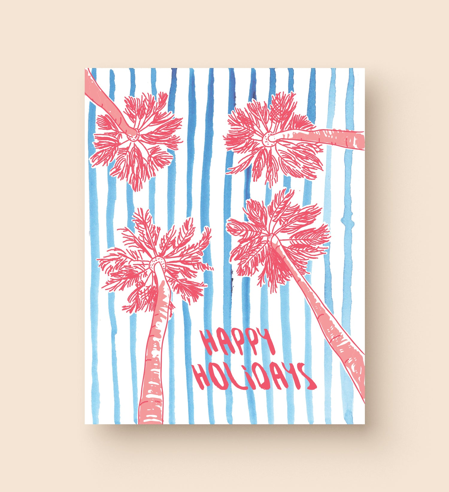 Palm Tree Holiday Card Sixth Berry Paper Co