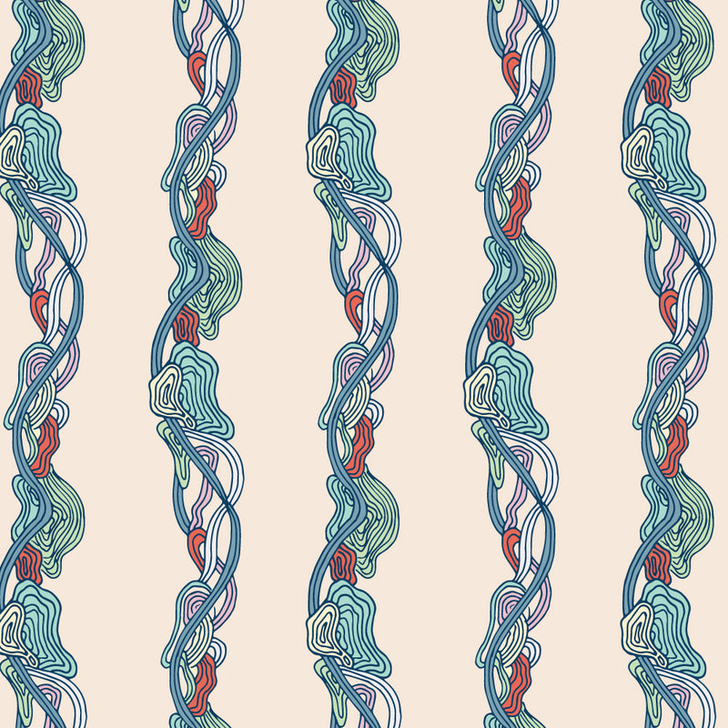 Sea Stripe Wrapping Paper