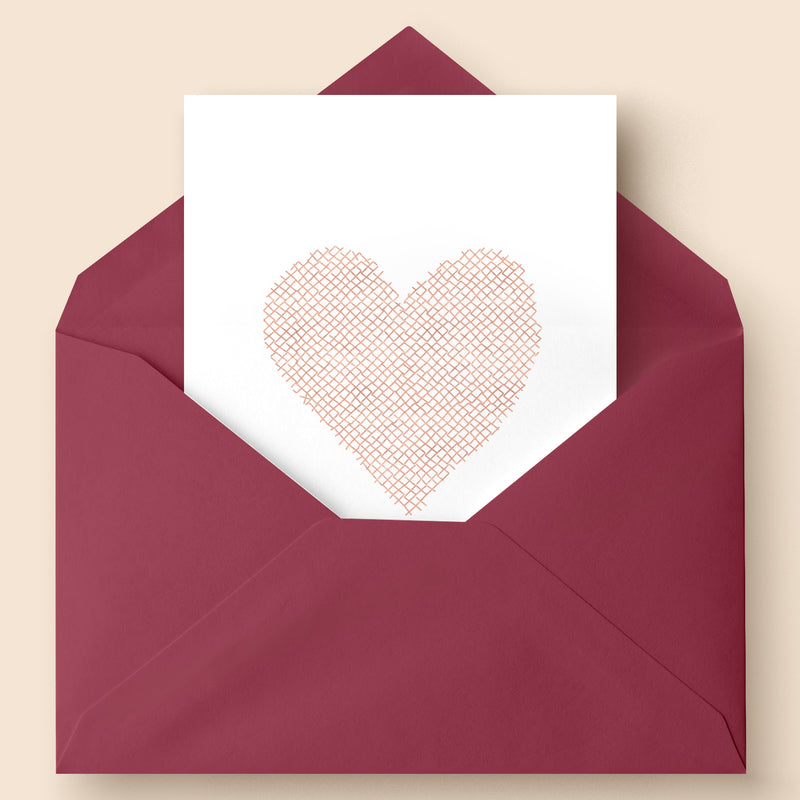 Rose Gold Foil Heart Card