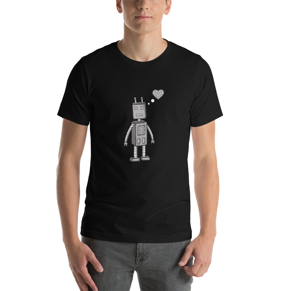 Robot Love Short-Sleeve Unisex T-Shirt