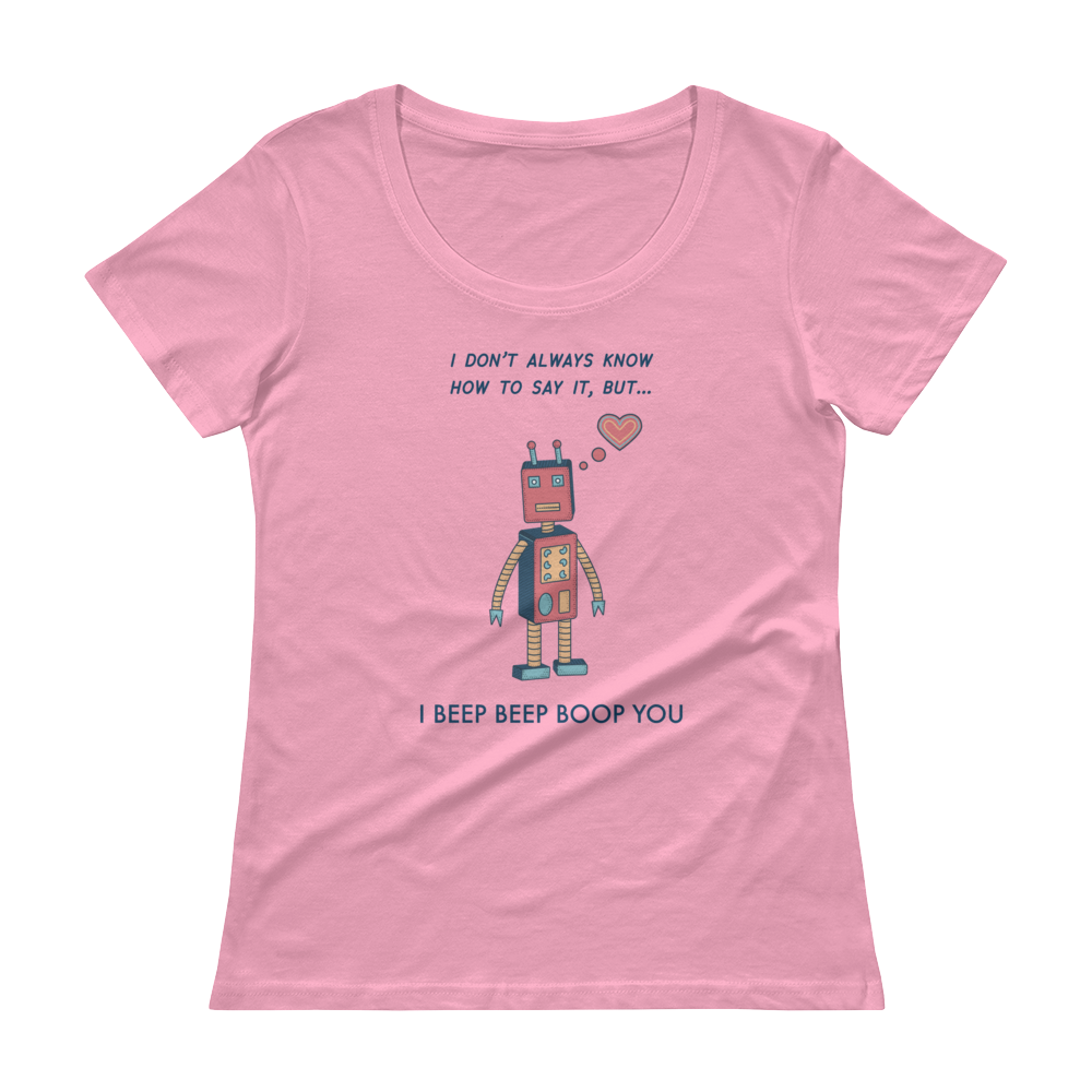 ***Fundraiser for Armenia*** - Beep Beep Boop Ladies' Scoopneck T-Shirt