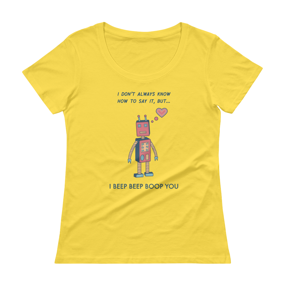 Beep Beep Boop Ladies' Scoopneck T-Shirt