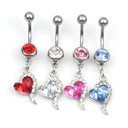 Crystal Heart Piercing