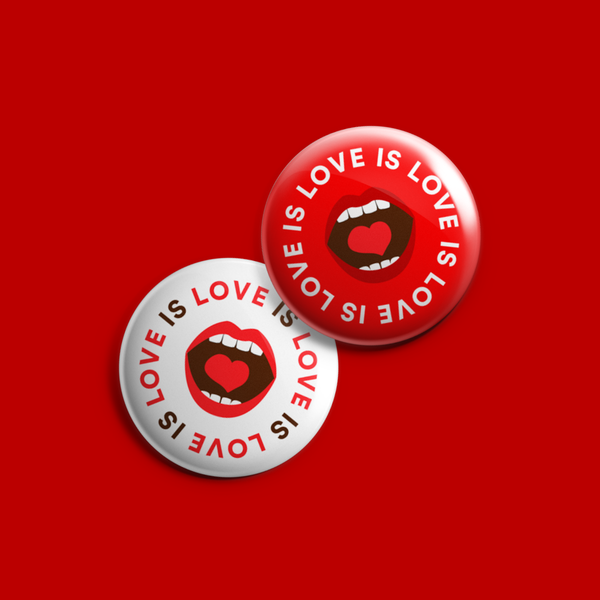 love is love. button set.
