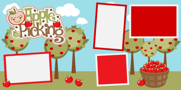 Apple Picking Scrapbook Page Kit-Club