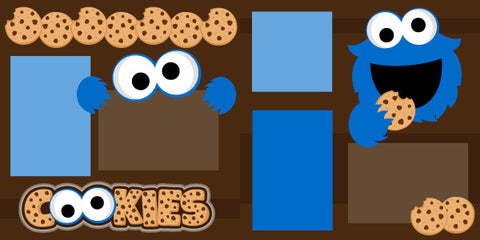 Cookie Monster Scrapbook Page Kit-Club