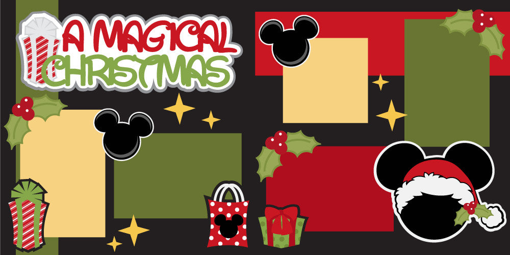 A Magical Christmas Scrapbook Page Kit-Club