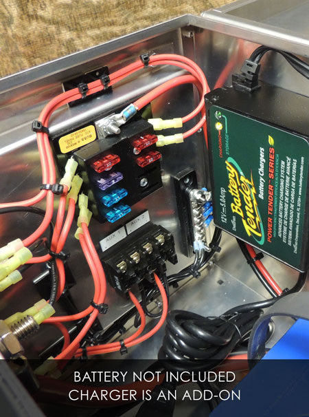dx300 12 volt aluminum battery box portable power station 12v usb rh dbox12 com wiring battery bank in parallel vs series wiring battery bank from solar panels