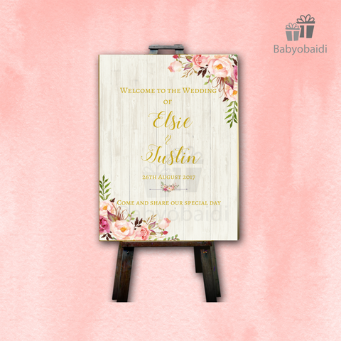 Wedding Welcome Canvas: Rustic Romance