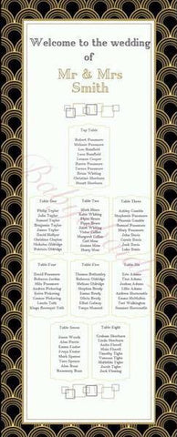 BabyObaidi Table Plan: black and gold art deco