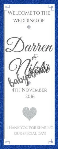 Babyobaidi Welcome Banner: simple royal blue
