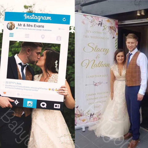 SALE - Wedding welcome Banner + Selfie Frame!