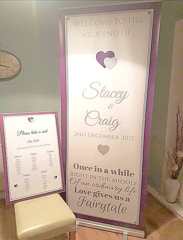 Welcome Banner + Table Plan A1 Canvas - Any Designs