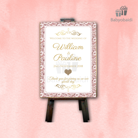 Wedding Welcome Canvas: Roses