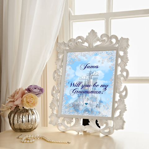 Wedding thank you Gift : fairytale winter castle
