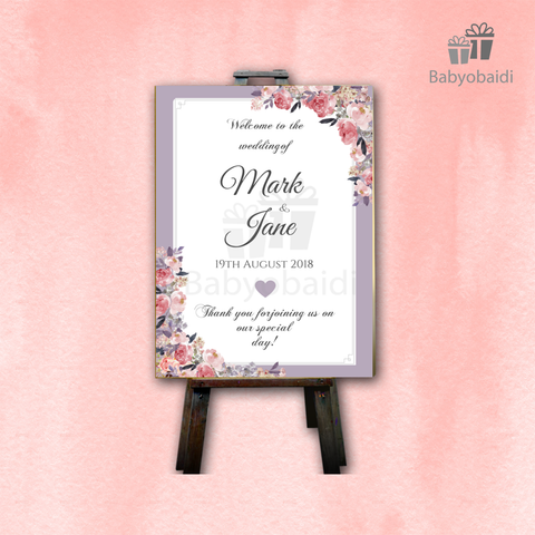 Wedding Welcome Canvas: Lilac Love