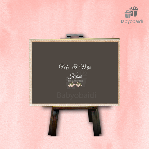 Guestbook Signing Canvas: Chalkboard