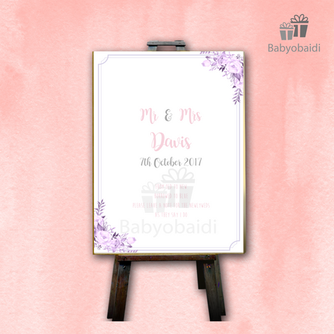 Guestbook Signing Canvas: Pretty Pastel