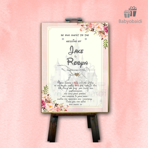 Copy of Wedding Welcome Canvas : Fairytale Blush