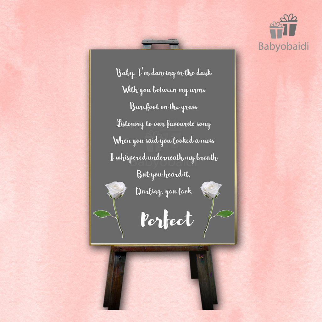 Babyobaidi design print perfect lyric print weddingwelcomebanner babyobaidi stopboris Image collections