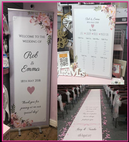 MEGA DEAL - Welcome Banner, Aisle Runner + Table Plan Canvas