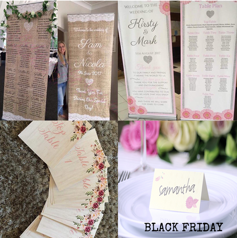 SALE Welcome Banner + Table Plan + Table Numbers + Place Names