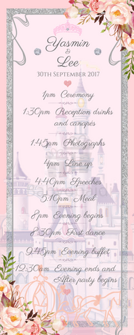 Babyobaidi Order of Day Banner: Pink fairytale castle