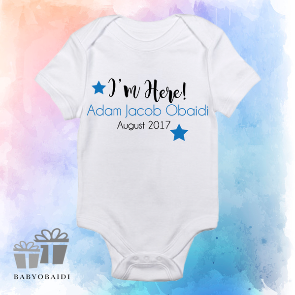 5c334e62b06f Baby Vest   Personalised Baby Boy Announcement