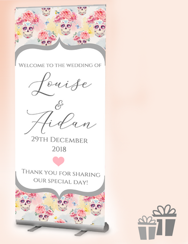2019 wedding welcome banner : scull candy
