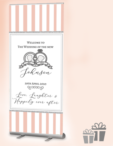 2019 wedding welcome banner : Peachy