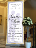 Babyobaidi wedding Welcome Banner:  Gold bride and groom no 13