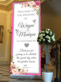 Babyobaidi wedding Welcome Banner:  Hot Pink & Floral no 16