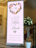 Babyobaidi wedding Welcome Banner:  lilac Floral wreath no 18