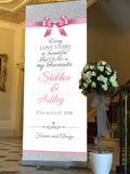 Babyobaidi wedding Welcome Banner:  Pink & Glitter Simple Thank You no 22