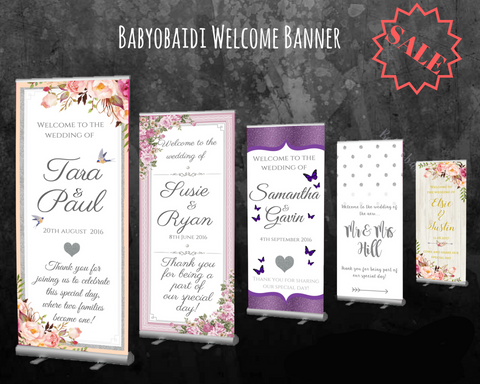 Babyobaidi Welcome banner - CUSTOM  Design!