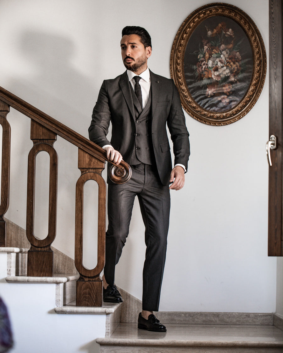 Dark Charcoal 3 Piece Suit
