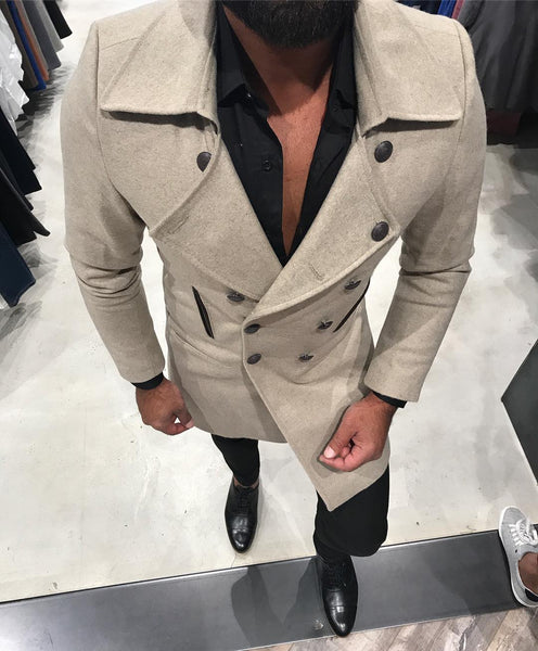 Beige Green Coat