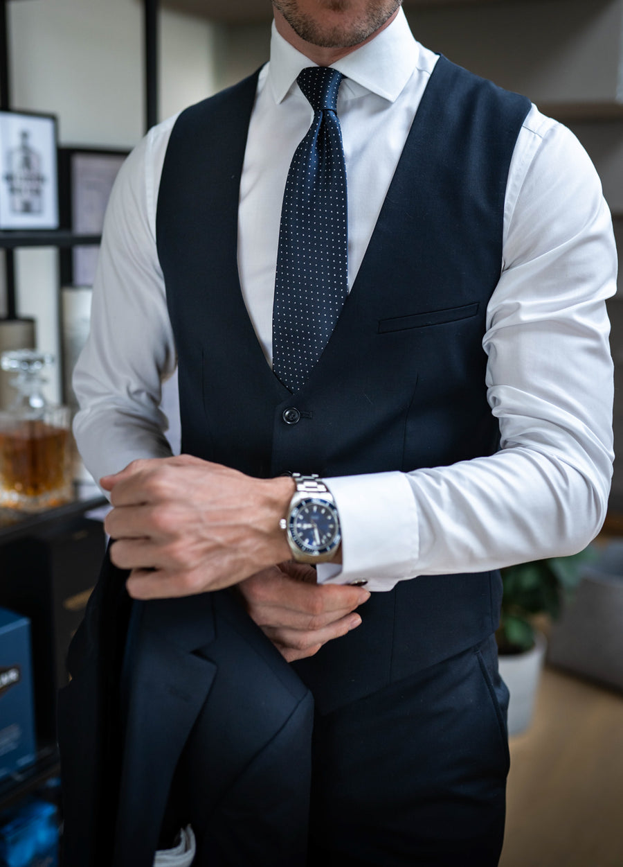 Dark Navy 3 Piece Suit