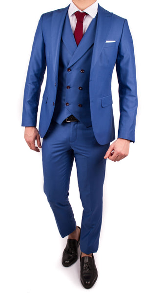 Light Blue 3 Piece Suit - Gentlemen's Crate