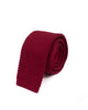 Wine Red Knitted Necktie - Gentlemen's Crate