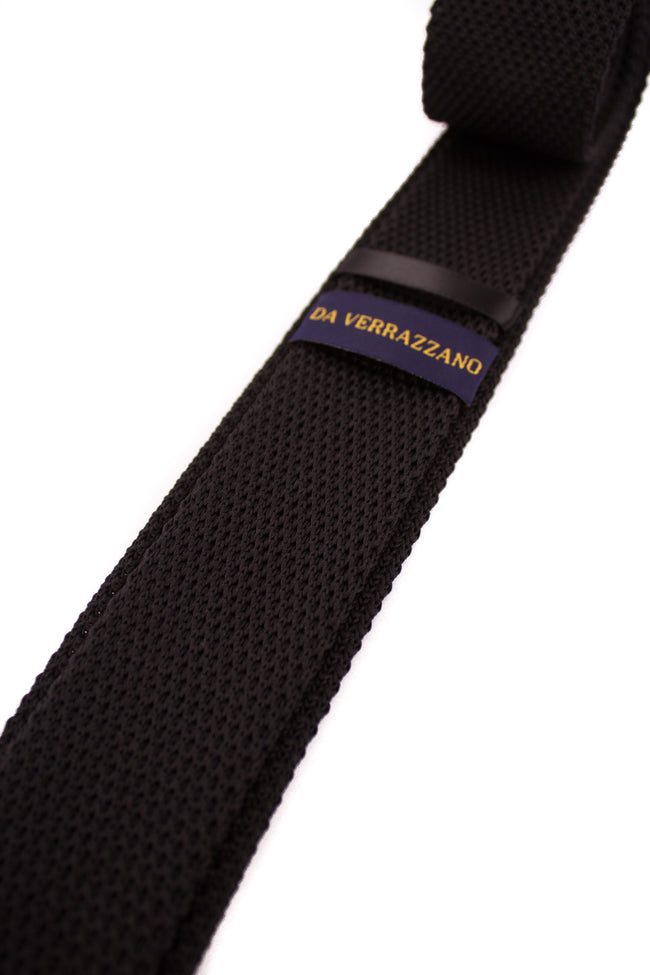 Black Knitted Necktie - Gentlemen's Crate