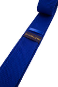 Blue Knitted Necktie - Gentlemen's Crate