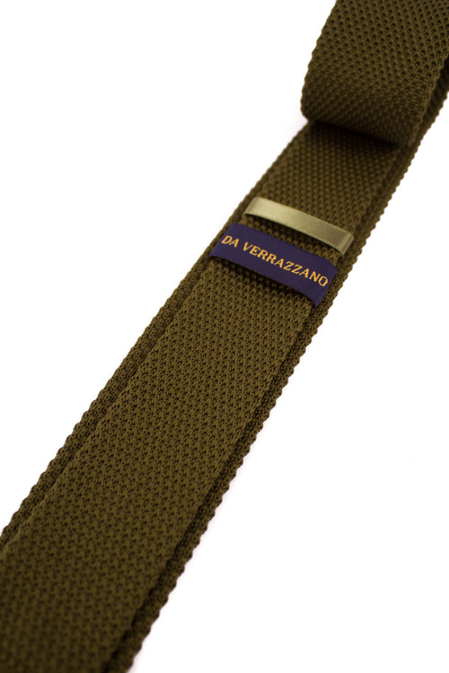 Army Green Knitted Necktie - Gentlemen's Crate