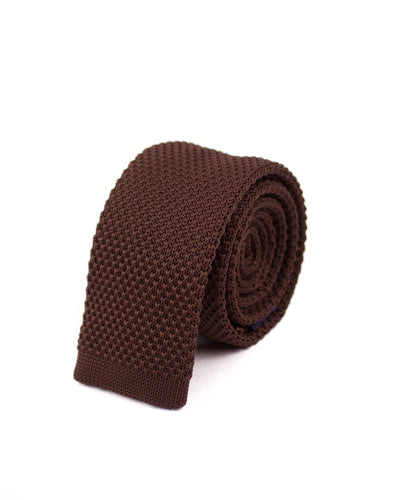 Brown Knitted Necktie - Gentlemen's Crate