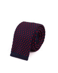 Navy Red Dot Knitted Necktie - Gentlemen's Crate