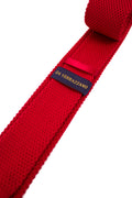 Red Knitted Necktie - Gentlemen's Crate