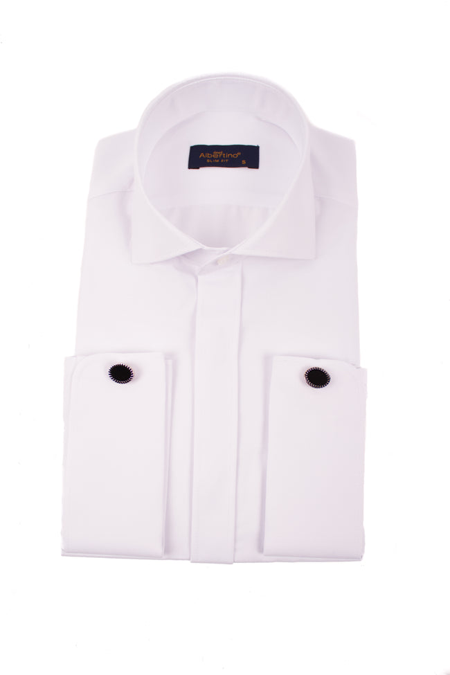 White Double Cuff Shirt - Gentlemen's Crate