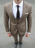 Tan Check 3 Piece Suit - Gentlemen's Crate