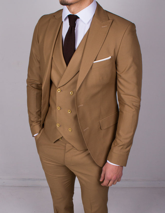 Beige 3 Piece Suit - Gentlemen's Crate